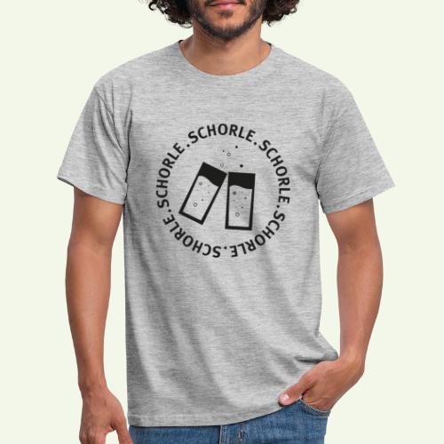 Schorle schwarz - Männer T-Shirt