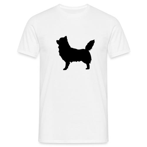 Chihuahua pitkakarva musta - Miesten t-paita
