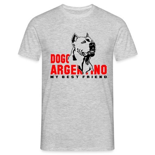 dogo argentino my best friend - Männer T-Shirt