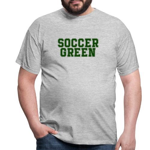 Soccer Green Style Text - Maglietta da uomo