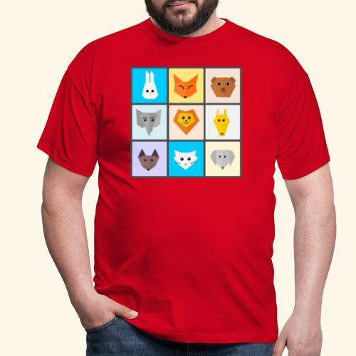 animales dibujos - Camiseta hombre