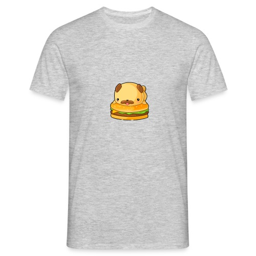 Süßer Hund auf einem Bürger - Männer T-Shirt