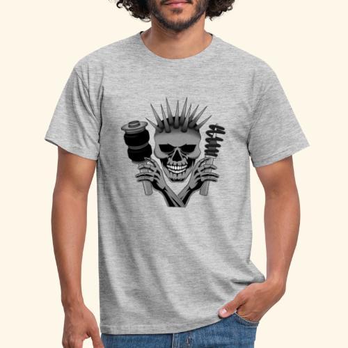 Air & Static Totenkopf - Männer T-Shirt
