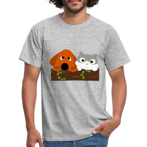 Hund & Katz - Männer T-Shirt