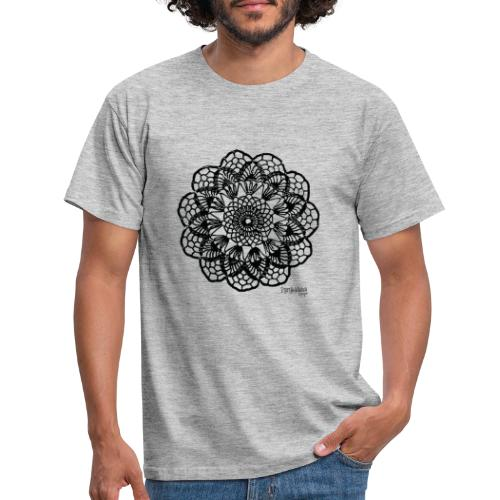 Grannys flower, musta - Miesten t-paita