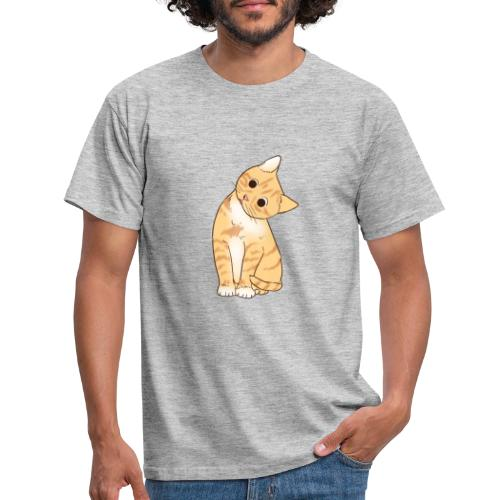 Pngtree cat orange cartoon 4992691 - Männer T-Shirt