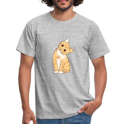 Pngtree cat orange cartoon 4992691 - Männer T-Shirt