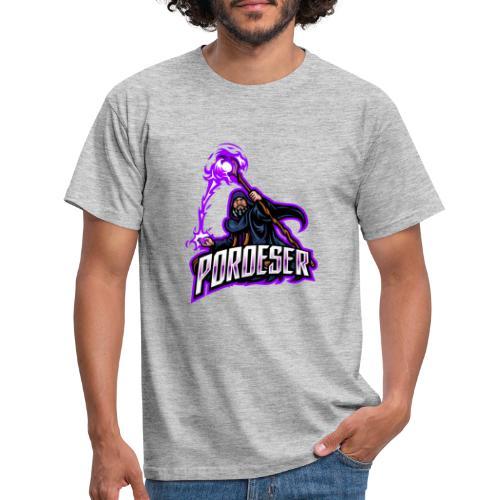 Logo Mascot+Textblock - Männer T-Shirt