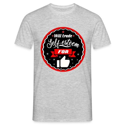Swap self-esteem for likes (inches) - Men's T-Shirt
