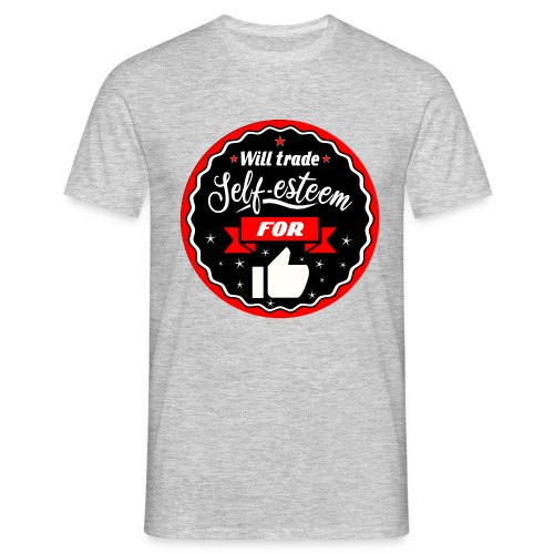 Trade self-esteem for likes (inches) - Men's T-Shirt