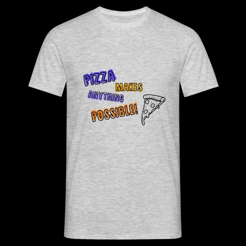 Pizza makes anything possible! - Colorful Design - Maglietta da uomo