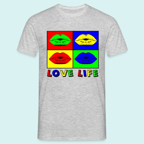 Love Life Multicolore - T-shirt Homme