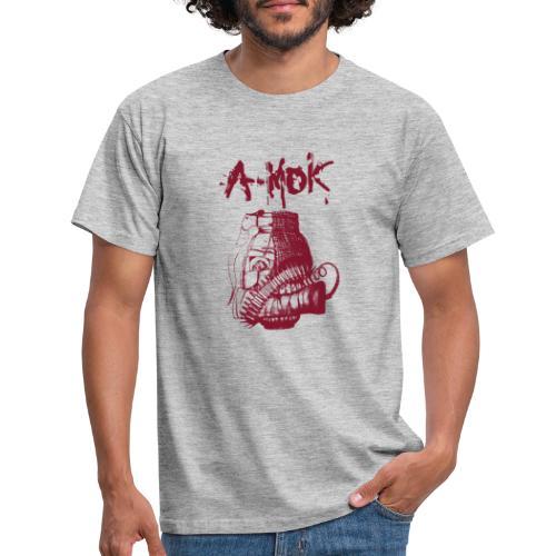 AMOK Grenade Logo Rot - Männer T-Shirt