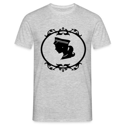 Mädel oval 1 farbig - Männer T-Shirt