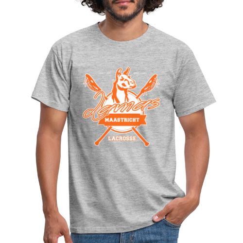 Llamas - Maastricht Lacrosse - Oranje - Mannen T-shirt