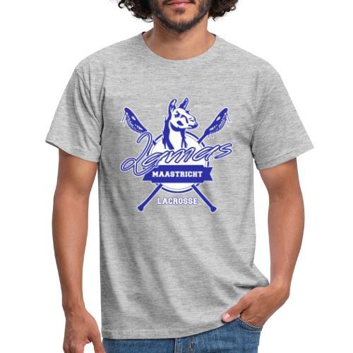 Llamas - Maastricht Lacrosse - Blauw - Mannen T-shirt