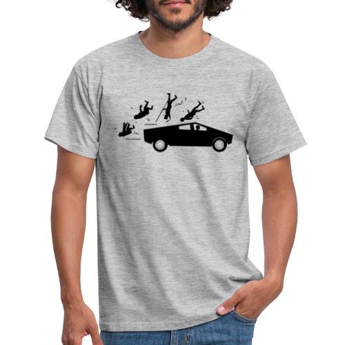 Evolution accident tesla Cybertruck par Elon Musk - T-shirt Homme