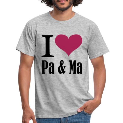 i love pa ma - Mannen T-shirt