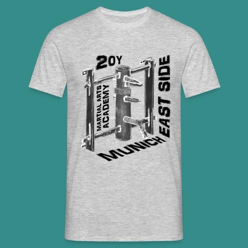 Holzpuppe negativ mit Text in schwarz - Männer T-Shirt
