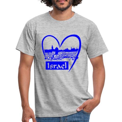 Jerusalem - I love Israel - blau - Männer T-Shirt