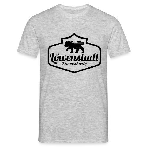 Löwenstadt Design 1 schwarz - Männer T-Shirt
