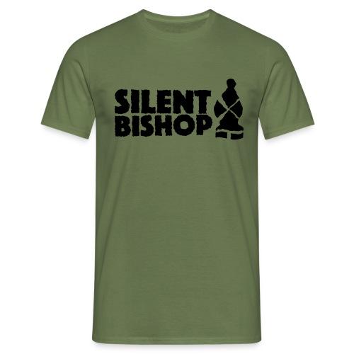 Silent Bishop Logo Groot - Mannen T-shirt
