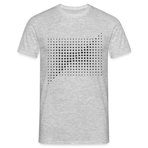 HALFTONE SQUARE COMPOSITON - Koszulka męska
