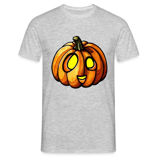 Pumpkin Halloween watercolor scribblesirii - Herre-T-shirt