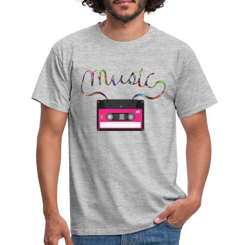 cassette retro - Camiseta hombre