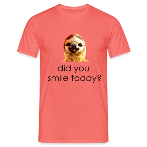 did you smile today? - Herre-T-shirt