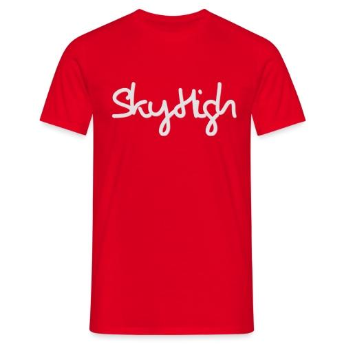 SkyHigh - Men's T-Shirt - Gray Lettering - Men's T-Shirt