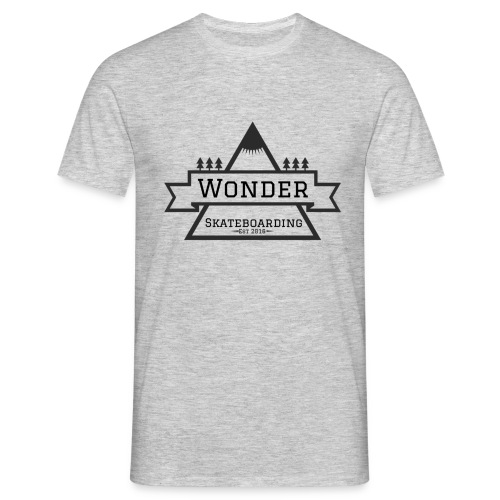 Wonder hoodie no hat - Mountain logo - Herre-T-shirt
