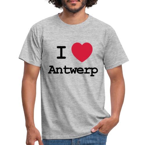 I love Antwerp - Mannen T-shirt