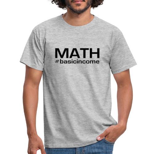 math-black - Mannen T-shirt