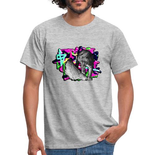 Leopard auf Bunt - Männer T-Shirt