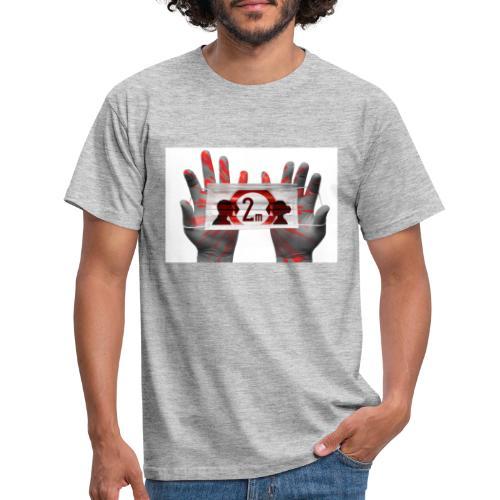 covid Mundschutz 2 m Abstand - Männer T-Shirt