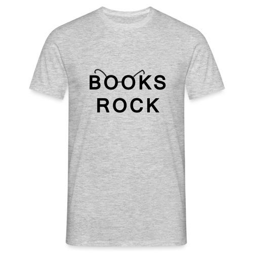 Books Rock Black - Men's T-Shirt