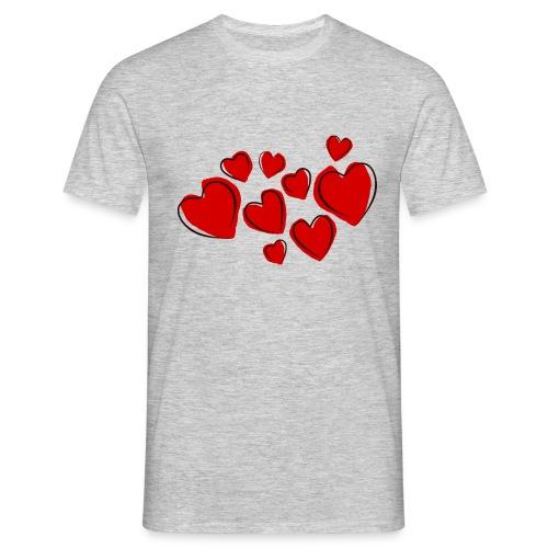 hearts herzen - Männer T-Shirt