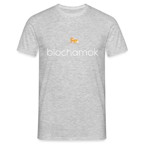 blochamok med r v hvid - Herre-T-shirt