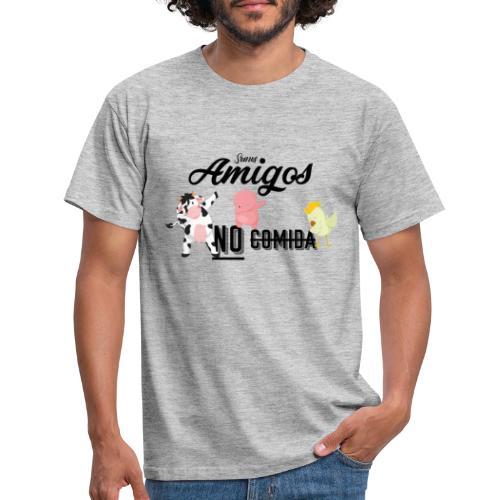 Somos amigos no comida - Camiseta hombre