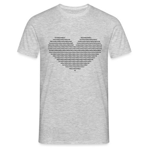 Isle of black Ascii Heart - Men's T-Shirt