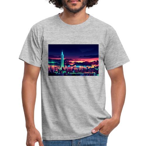 Neon city 1.0 - Herre-T-shirt