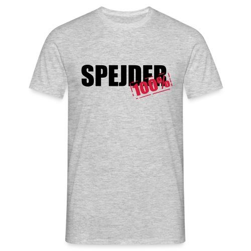 100procent spejder stempel - Herre-T-shirt