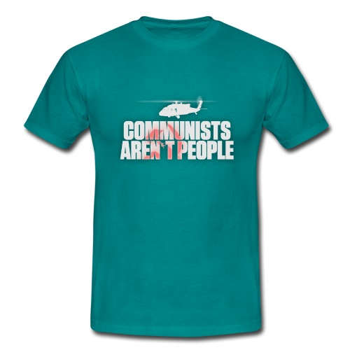 Communists aren't People (White) (No uzalu logo) - Men's T-Shirt
