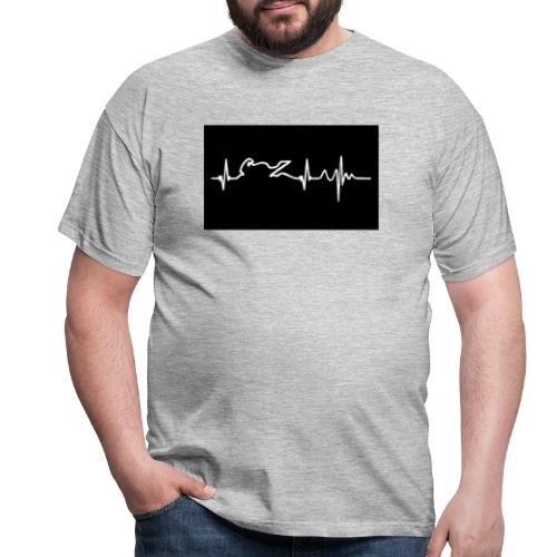 biker heartbeat - Camiseta hombre