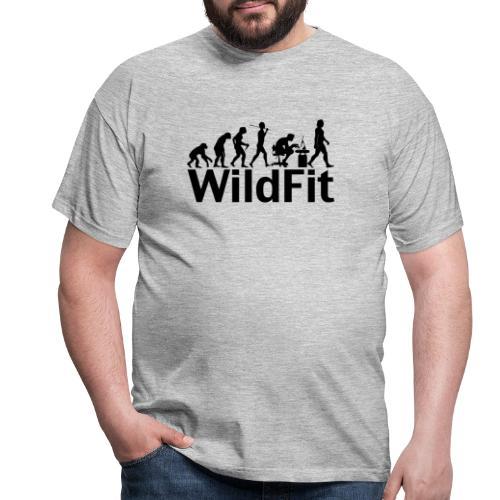 WildFit Logo Evolution in Schwarz - Männer T-Shirt