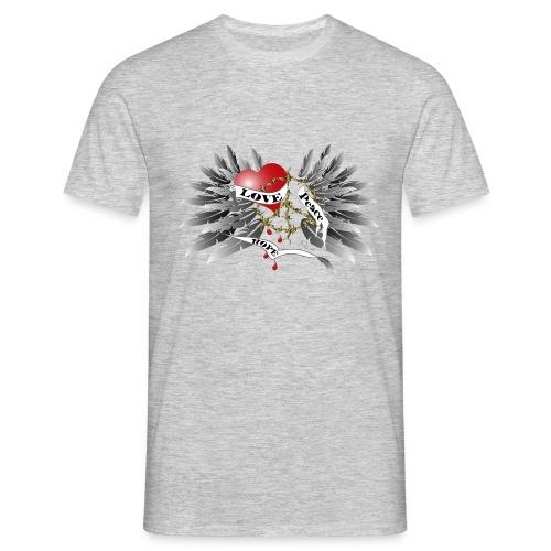 Love, Peace and Hope - Liebe, Frieden, Hoffnung - Männer T-Shirt