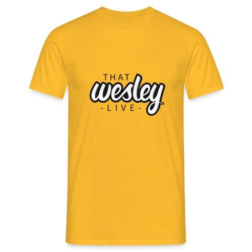 ThatWesleyLOGO 3 4 png - Mannen T-shirt