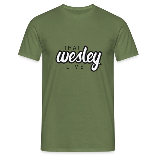 ThatWesleyLOGO 3 4 png - Mannen T-shirt