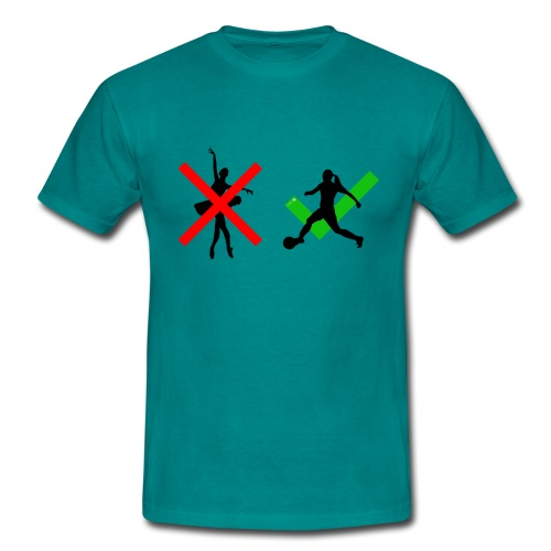 soccer girl - Mannen T-shirt